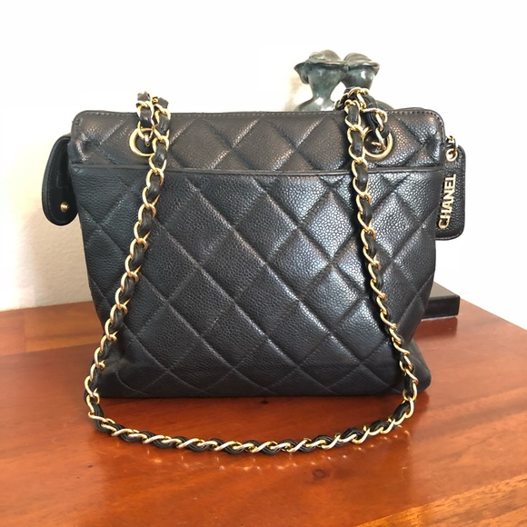 de18f3d0902ddb CHANEL Handbags - Authentic Vintage Chanel Caviar Black Shoulder Bag